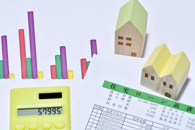 住宅ローンの書類と電卓