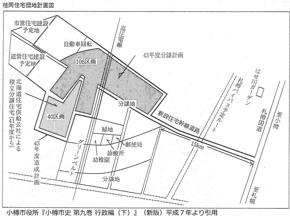 桂岡団地計画図