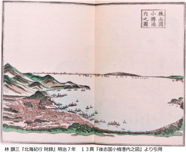 後志国小樽港内之図