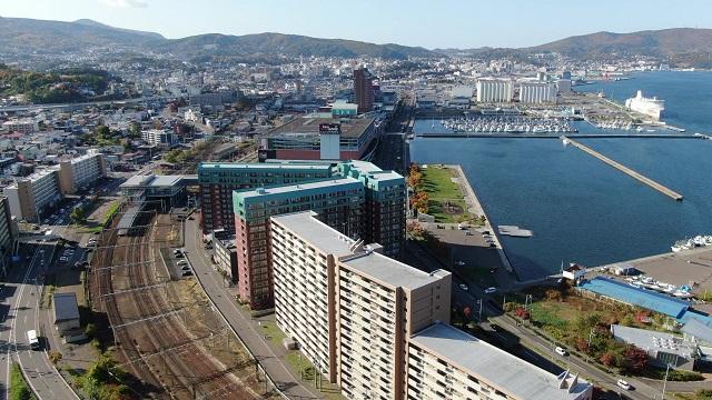南小樽の空撮写真
