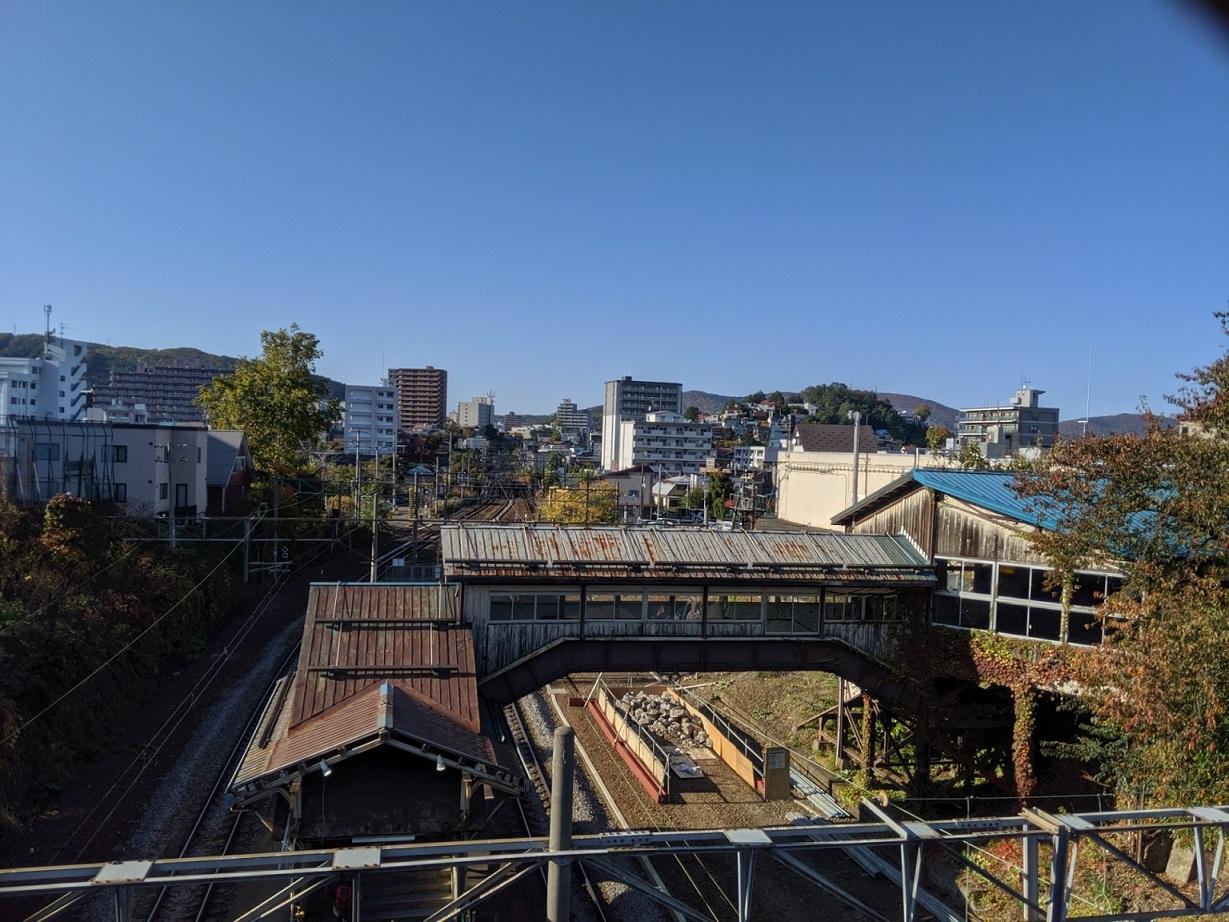 現代の南⼩樽駅舎の写真
