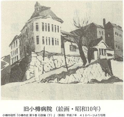 昭和10年の旧小樽病院の絵画
