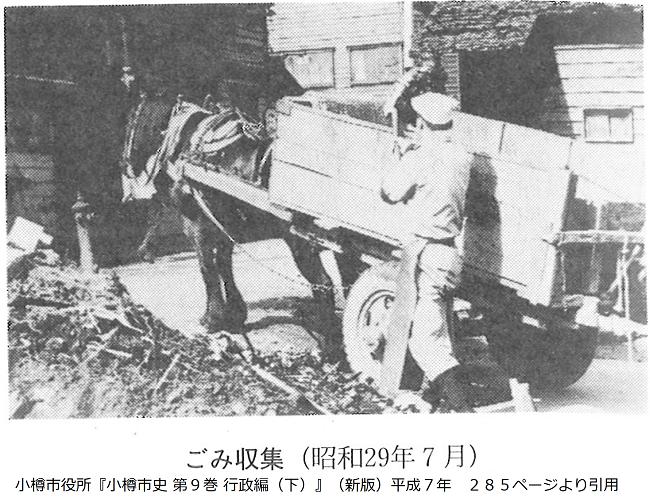 昭和29年のごみ収集