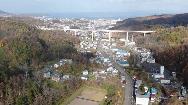 小樽の空撮写真