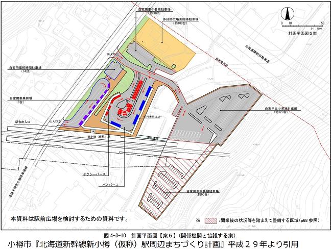 新小樽駅周辺敷地の計画平面図