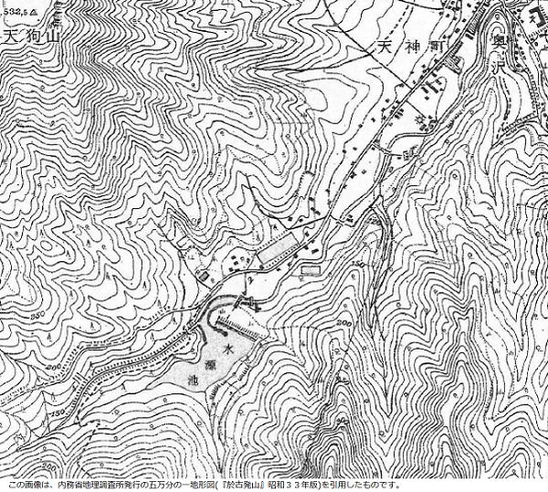 地形図(昭和33年)