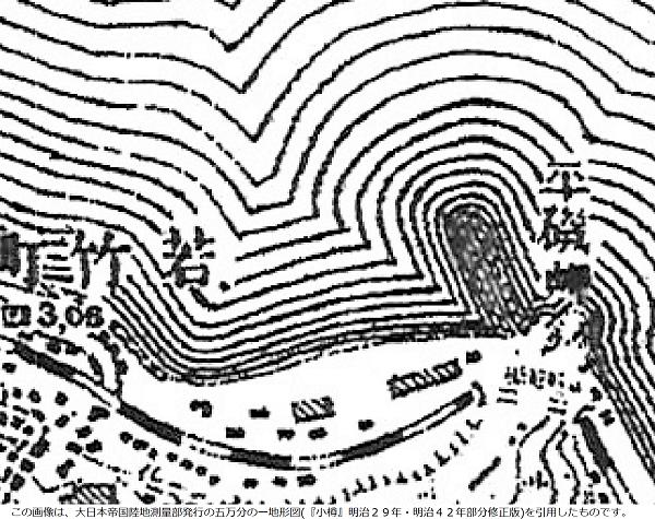 小樽築港 地形図(明治)