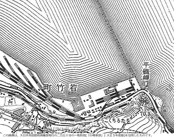 小樽築港 地形図(大正)