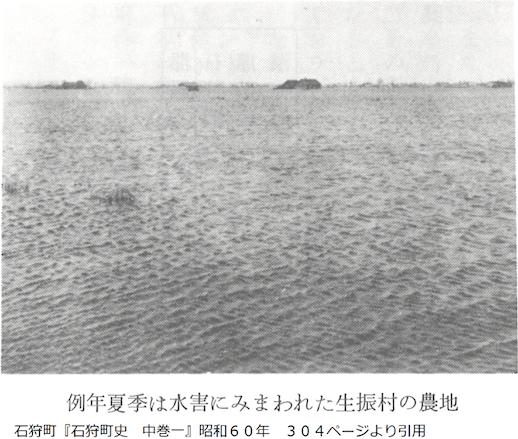 水害に見舞われる農地