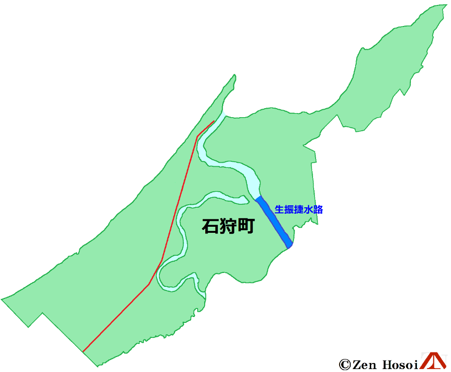 石狩町の水路