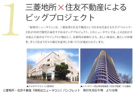 三菱地所と住友不動産のプロジェクト