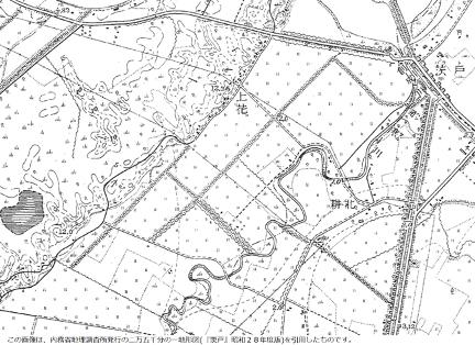 昭和28年の緑苑台の地図