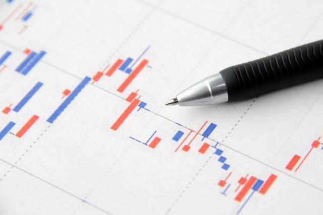 変動するグラフとペン