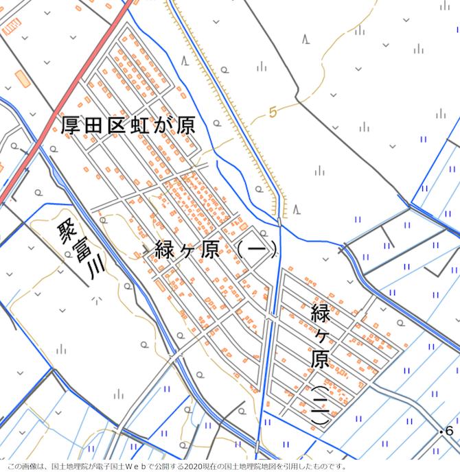 緑ヶ原の地図
