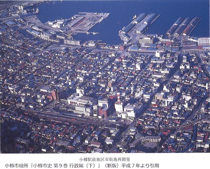 近年の小樽の航空写真