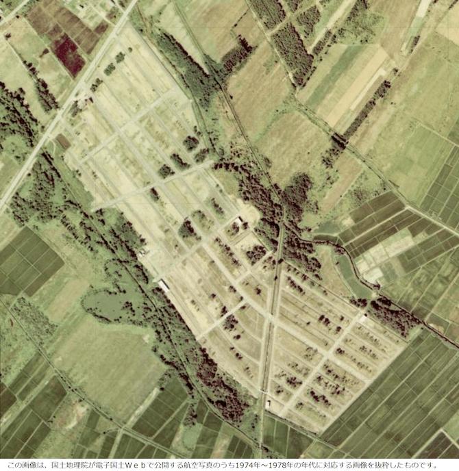 昭和40年の石狩の航空写真