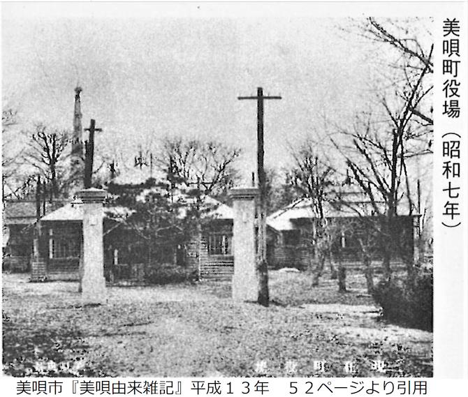 昭和7年の美唄町役場