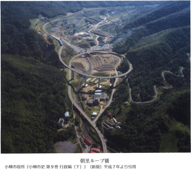 朝里ダムの航空写真
