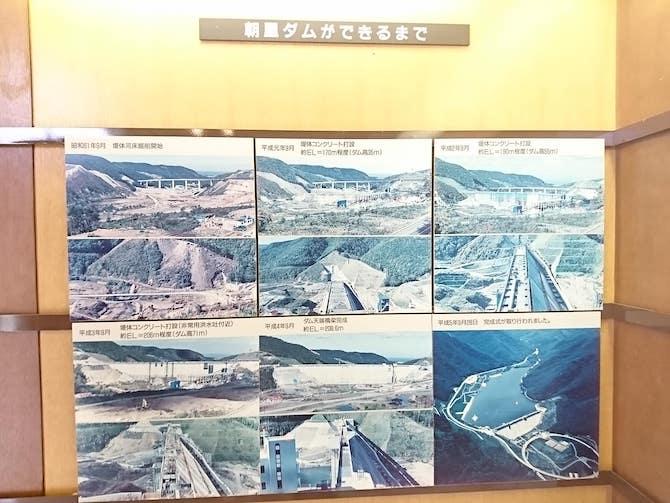 朝里ダムの歴史パネル