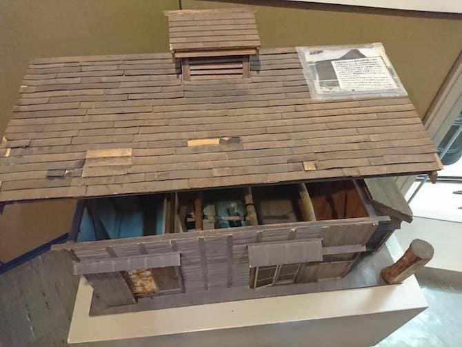 美唄の屯田兵の家の模型