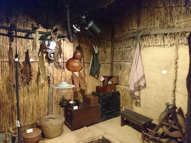木造屯田兵屋の内部