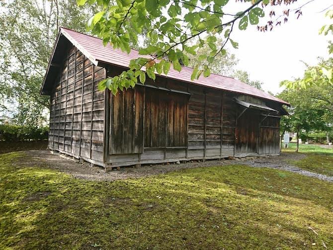 復元された屯田兵の木造家屋