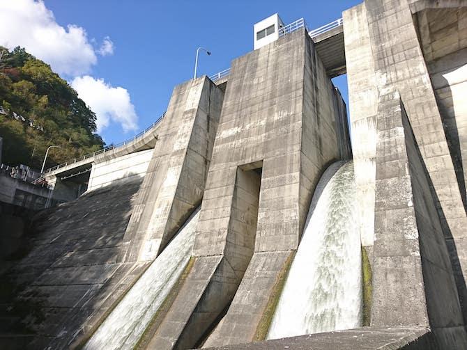 美唄ダムの水門