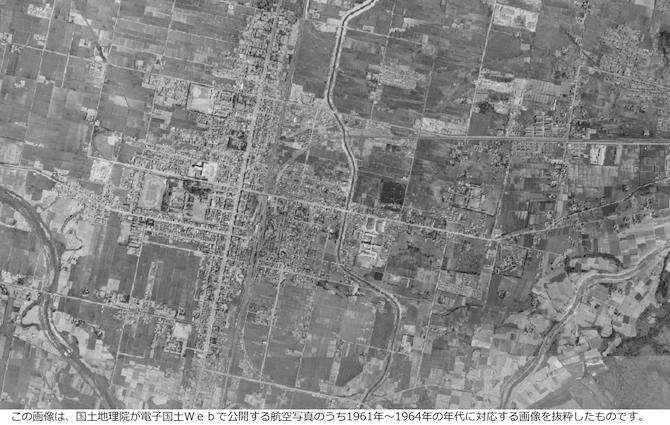 昭和60年代の美唄の地図