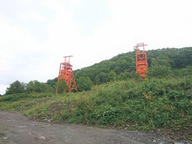 2つの竪坑櫓