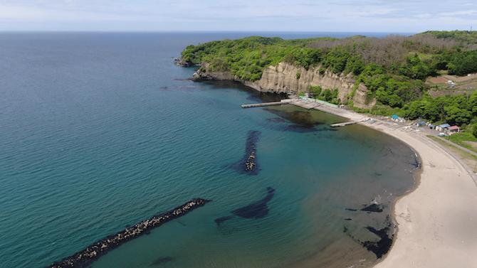 蘭島の海水浴場