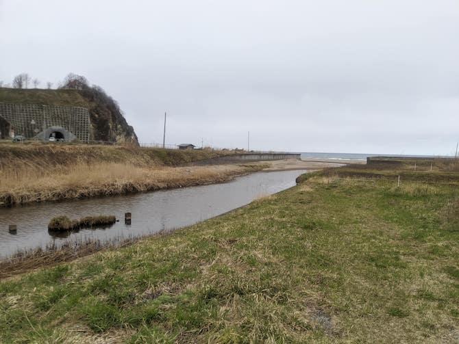 蘭島川の河口