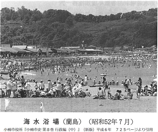 昭和52年の蘭島の海水浴場