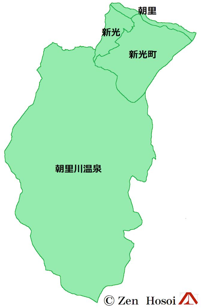 旧朝里村の地図