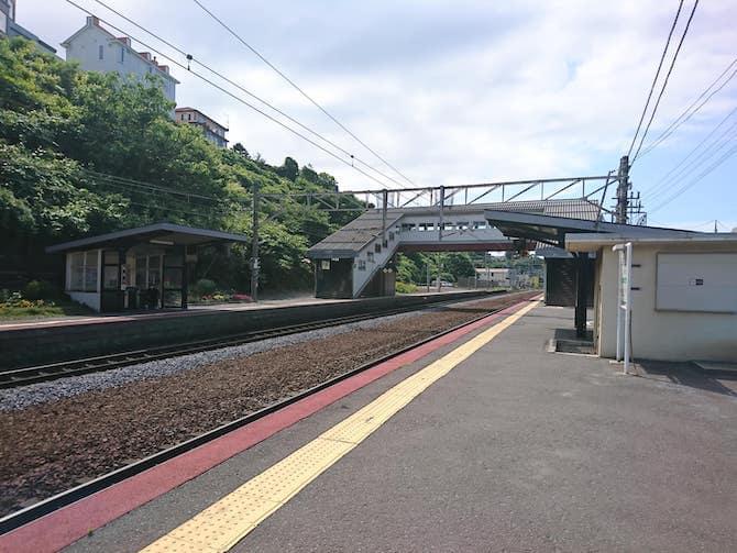 朝里駅と線路