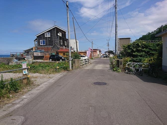 朝里駅周辺の海の家