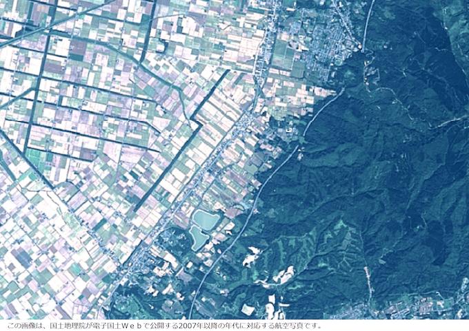 平成19年の美唄エリアの航空写真