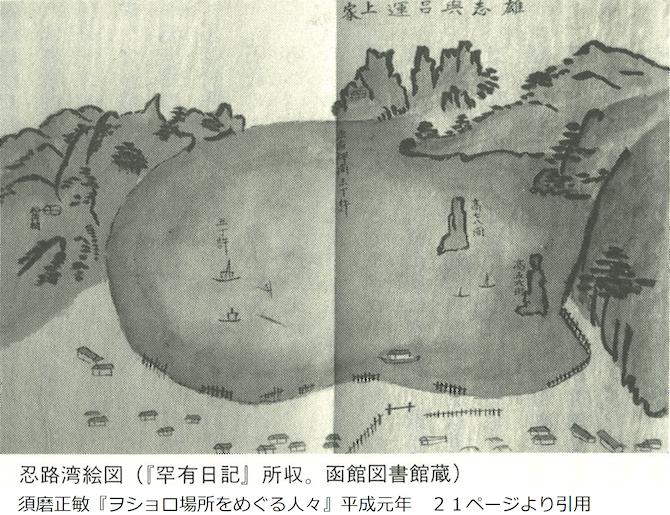 江戸時代の忍路湾