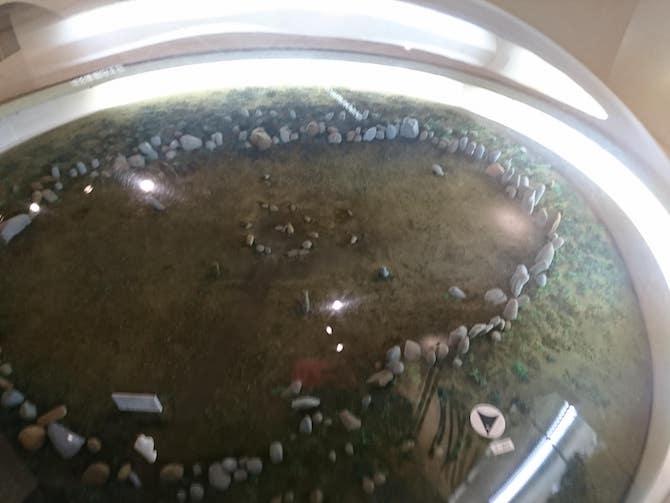 忍路環状列石の模型
